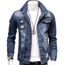 HCXY 2020 wiosna jesień moda męska Denim kurtki płaszcze mężczyźni bawełniana kurtka mężczyzna kurtka dżinsowa znosić mężczyzna kowboj rozmiar 4XL