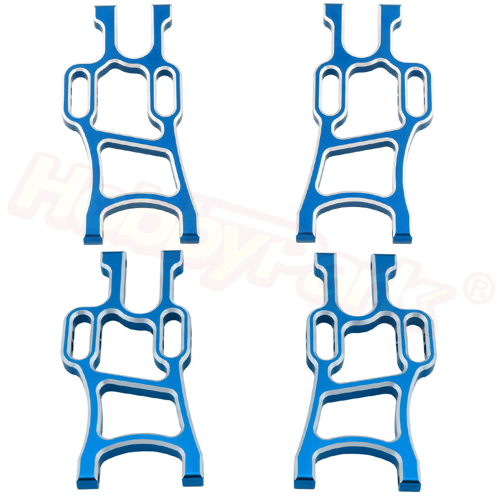 4pcs Metal Lower Suspension Arms Set Replace 108019 <font><b>108819</b></font> 108821 108021 08005 08006 for 1/10 RC Monster Truck HSP Redcat Exceed image