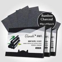 Daralis, 3 упаковки, 240 шт, бамбуковый уголь, масло, промокающие листы, впитывающая бумага для лица, контроль масла, Матирующая ткань, портативные подушечки для лица