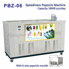 Ice Pop Machine Popsicle Making Equipment Merchant Ice-lolly Machine Stainless Steel 6 Molds 18000 pcs/day 220V/50Hz PBZ-06 стоимость