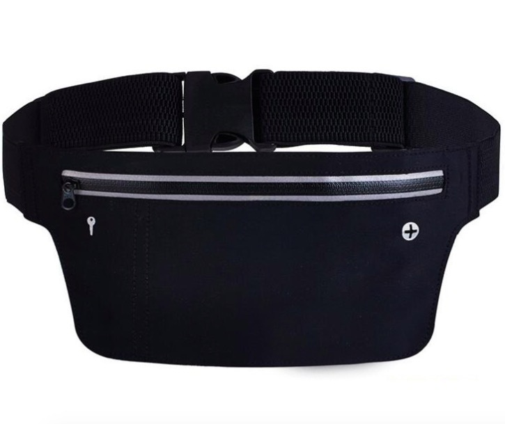 New Style Ultra-Thin-Elasticity Body Hugging Outdoor Running Mobile Phone Storage Waterproof Sports Waist Bag Home