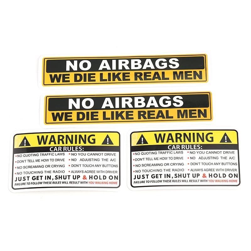 Стикер для автомобиля, предупреждающие правила безопасности, наклейки для автомобиля из ПВХ, стикер s, без подушек безопасности, мы, как наст...