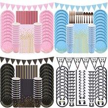 20 ospiti bambini compleanno decorazione piatto di carta tazza tovagliolo Set di stoviglie usa e getta per matrimonio Baby Shower Festival forniture per feste
