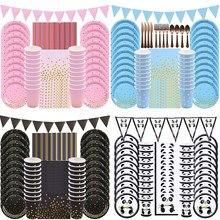 20 gości dekoracje urodzinowe dla dzieci talerz papierowy serwetka jednorazowe zastawy stołowe zestaw na ślub Baby Shower Festival zaopatrzenie firm