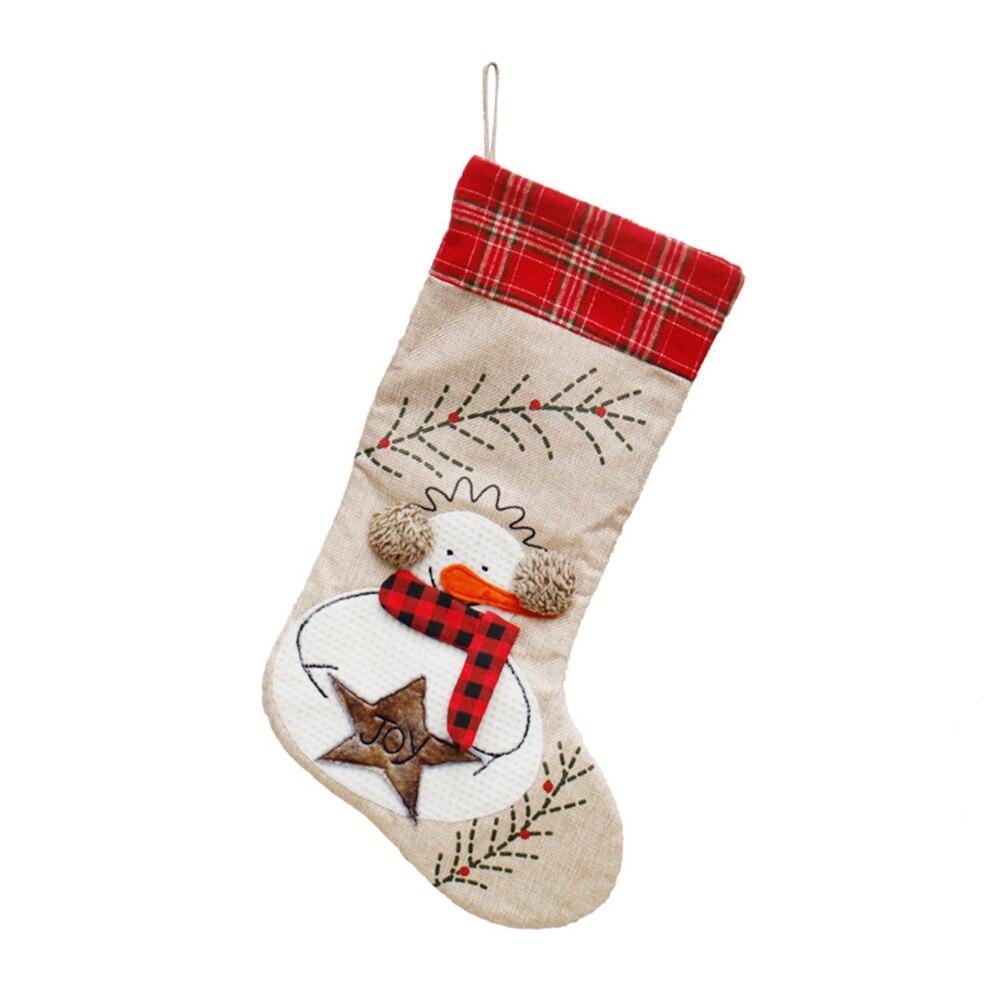 Pces/saco/boneco de neve de natal série/natal estocando saco de doces saco de presente decoração/ornamentos de natal/vendas diretas da fábrica