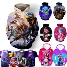 New Game 3D Off White Hoodie Children Hoodies Streetwear Hip Hop Warm Hoody Sweatshirts Harajuku