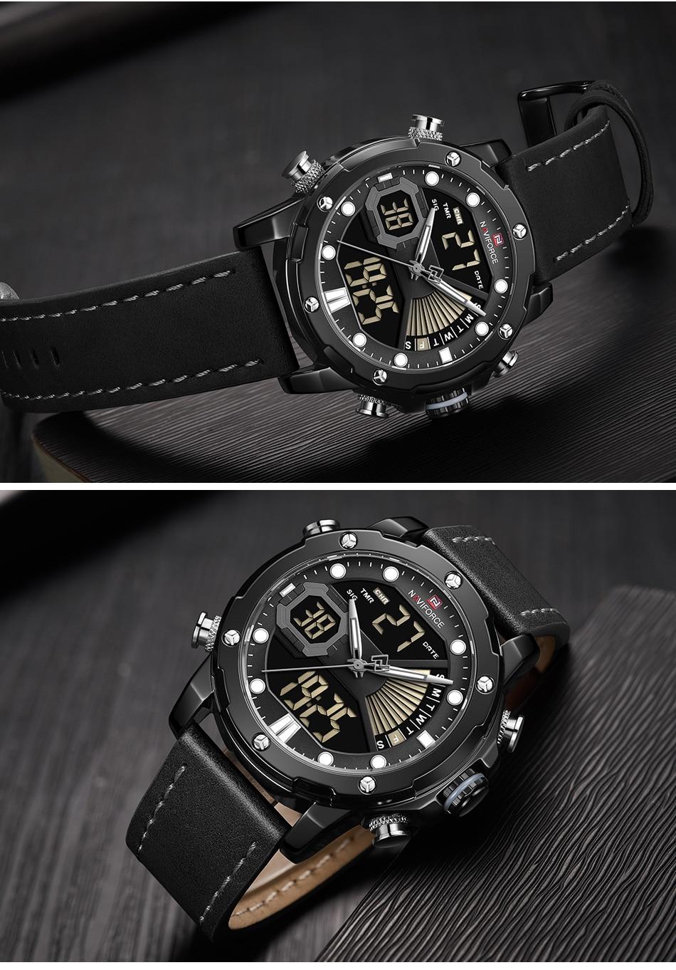 H7ebaa0bd73cc404e928fec2280413c9do NAVIFORCE Men Watch Top Luxury Brand Fashion Sports Wristwatch