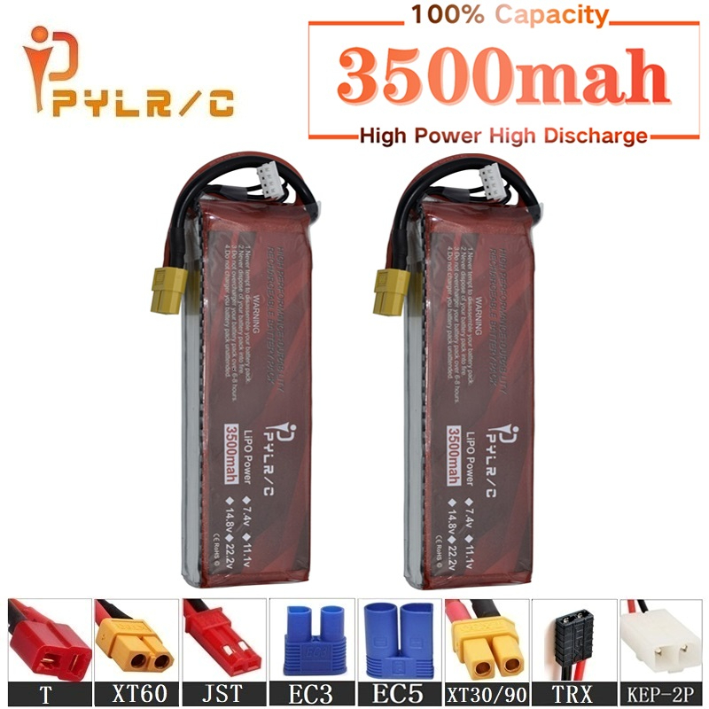High Rate 14.8v <font><b>3500mAh</b></font> <font><b>Lipo</b></font> Battery For RC Helicopter Parts <font><b>4s</b></font> Lithium battery 14.8v 50C RC Cars Airplanes Drone Battery T/XT60 image