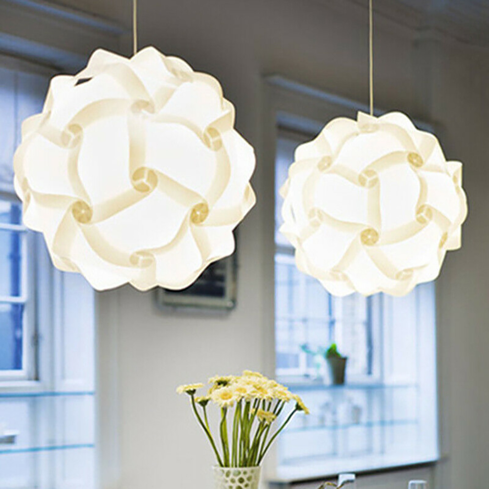 Creative DIY Puzzle Lampshade Jigsaw Light Lamp Modern Lampshade Lamp Cover Ceiling Chandelier Pendant Light Cover