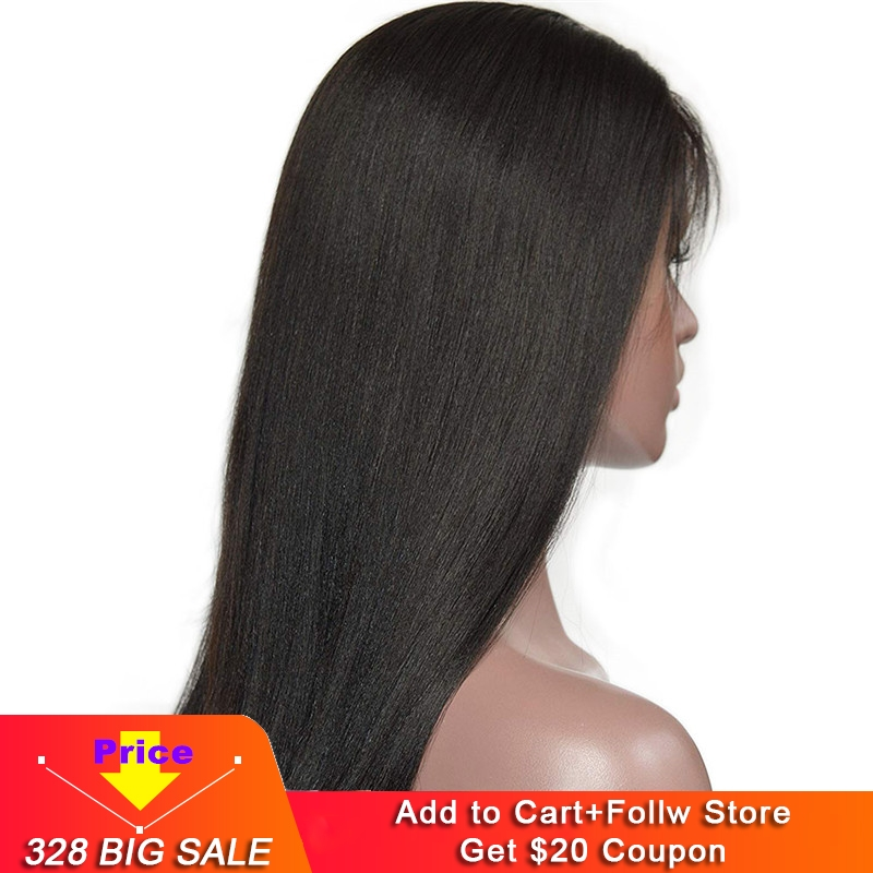 Eseewigs Light Yaki Straight 13x6 Lace Front Human Hair Wigs For Black Women 150 Density Brazilian Remy Hair Glueless Lace Wigs
