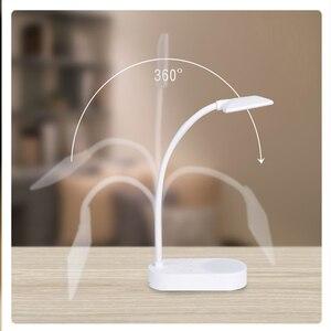 Image 2 - Innovative Dual Lamp Design USB Charging 5 Stops Cold/Warm Light Table Lamp Desk Table Light Led Desk Lamps Flexo Flexible Lamp