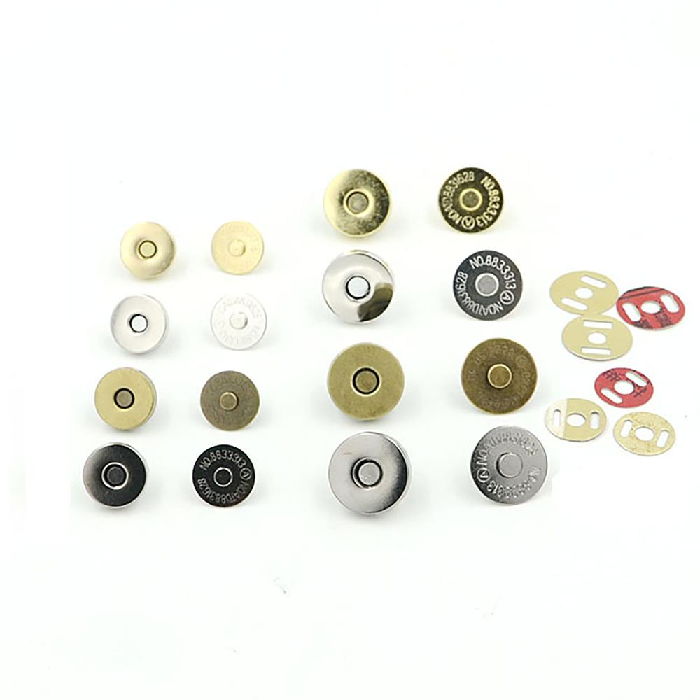 10pcs Magnetic Snap Button Sew On Craft DIY For Clothes Coat Bag Accessories