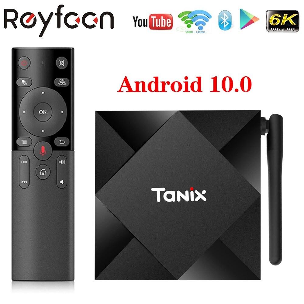 Android 10,0 TV Box Tanix TX6S 2,4G 5,8G Dual Wifi Allwinner H616 Quad Core USB 2,0 Bluetooth 4K Google Player Youtube Netflix 4G