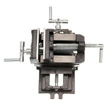 100mm/4 Cross Sliding Drill Press Vice Machine Hand 2 Way Clamp Vise