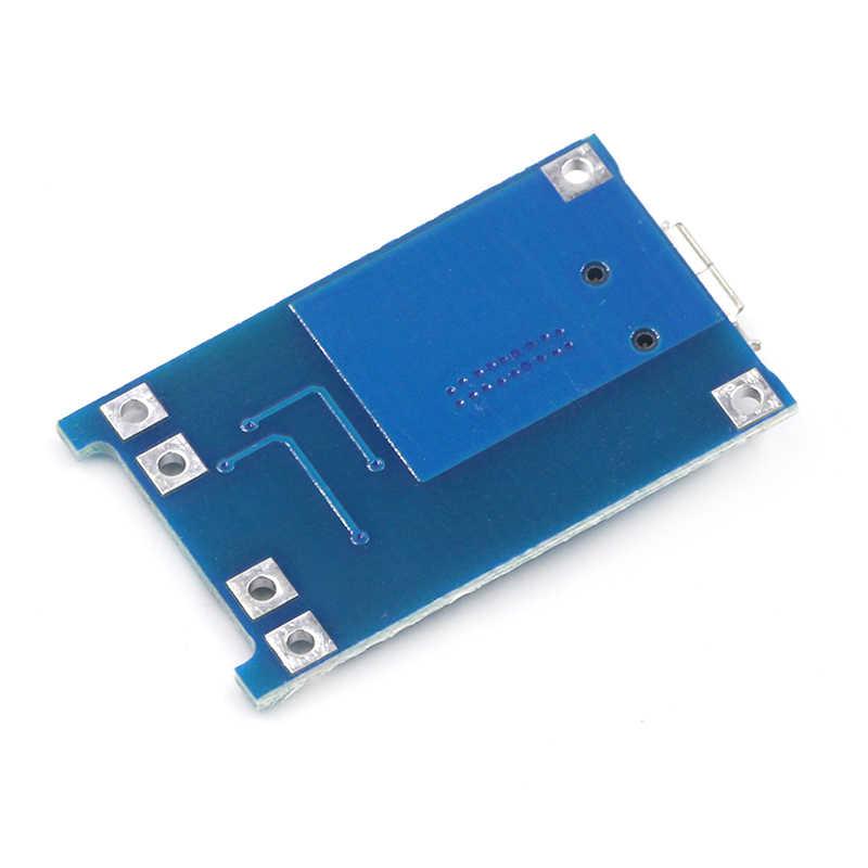 1 CÁI 5V 1A Micro USB 18650 Pin Lithium Sạc Ban Sạc Mô Đun + Bảo Vệ Kép Chức Năng