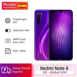 Global ROM Xiaomi Redmi Note 8 4GB 64GB 48MP Quad Camera Smartphone Snapdragon 665 Octa Core 6.3 FHD Screen 4K Video Phone