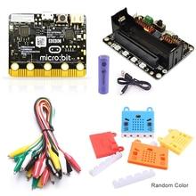 BBC Micro: бит стартовый набор с микро: бит Breakout Board, чехол для платы Microbit и зажимы типа «крокодил», используемые для обучения начинающих DIY