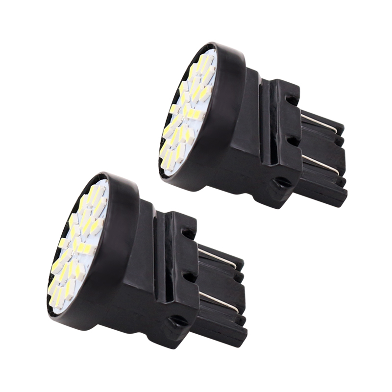 10pcs 1156 BA15S Reversible LED L2.86 T25 7443 T20 Lamp Tail Brake 22 SMD 3014 Chips White DC 12V image