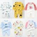 Детский комбинезон, Одежда для новорожденных девочек, цельнокроеный наряд для маленьких мальчиков, мультяшное оформление