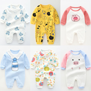 Baby's Jumpsuit New Born Baby Girl Clothes Baby Boy One Piece Outfit Cartoon Rompers Infant Clothing(China)