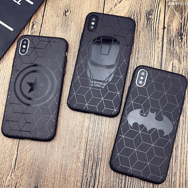 Marvel Avengers Silicone Case for Coque iPhone 6s 7 8 Plus 11 Pro ...