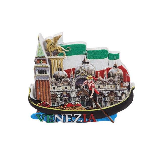 Europäischen Touristischen Kühlschrank Italien Magneten Souvenir Kreative Neue Stil Venedig Landschaft Wahrzeichen Nette Magneten Kühlschrank Aufkleber