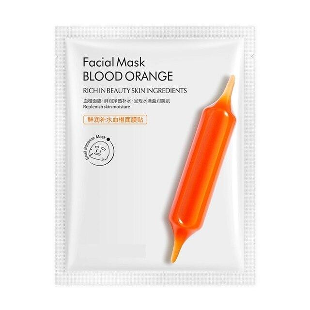 5pcs Blood Orange Hyaluronic acid soothing Mask High Moisturizing Firming Brightening Acne Treatment korean face mask 3