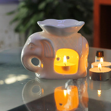 Oil Burner Ceramic Essence Aroma Censer Furnace Hotel Bedroom Home Decoration 8*12*9cm NEW