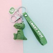 2019 Cute Cartoon Key chain Small Dinosaur Key chain Animal Panda Keychains lady Bag Charm Key Ring Pendant Fashion Gift цена и фото