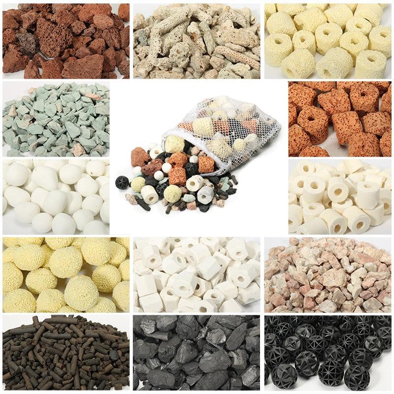 12 IN 1 Aquarium Filter Material Ceramic Biochemical Ball Fish Tank Medium Aquarium Accessories Gift Net Bag