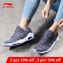 Li-ning mujeres Bubble Face DB Cushion Lifestyle Shoes Fitness Comfort transpirable forro Li Ning Zapatos de deporte AGCN008 YXB139(China)