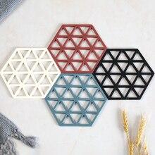 Алмазная форма полый анти-скальдинг изоляционный коврик Защита окружающей среды утолщенные Нескользящие Potholder пиалы для чая настольные коврики