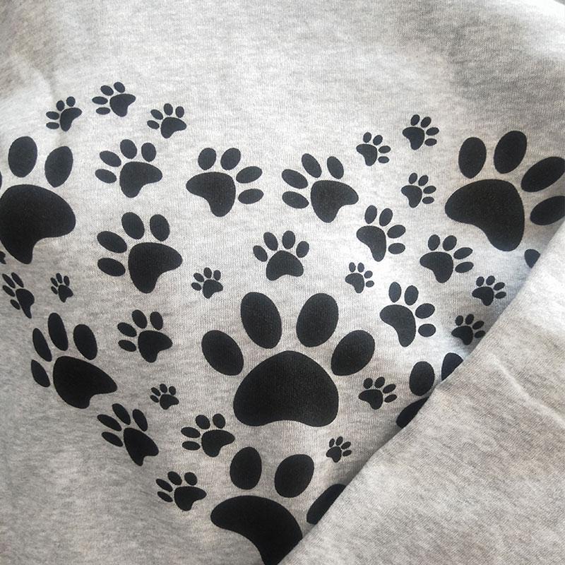 2020 Autumn Print Heart Paw Women's Hooded Sweatshirts 4