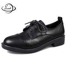 Женские туфли-лодочки женские туфли-лодочки на высоком квадратном каблуке 3 см; сезон весна-осень классические женские туфли из мягкой кожи на платформе со шнуровкой и круглым носком; h50