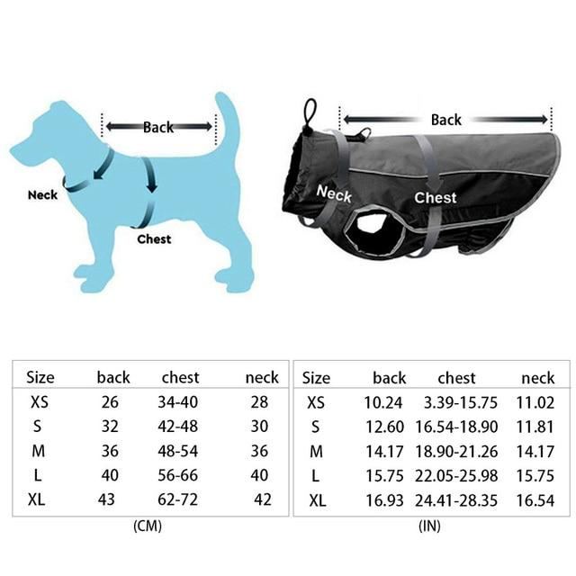 Pet Jacket Dog Clothes Coat Reflective Waterproof Jacket   6