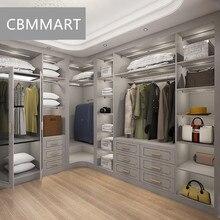 L-образная ходьба в шкафу с дизайном американского стиля