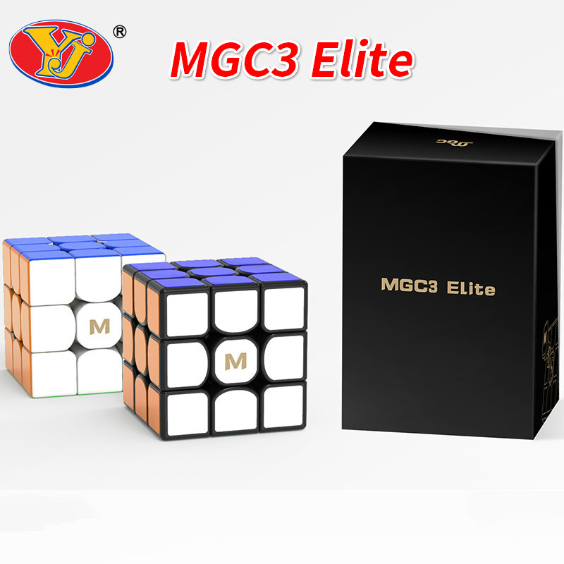NEW YJ MGC3 Elite M 3x3 Black Speed Cube YJ MGC Elite Magnetic 3x3x3 Magico Cubes Puzzle Educational Toys  Toys For Children