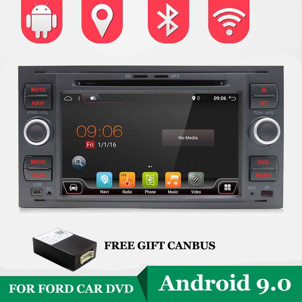 Android 9.0 Two 2 Din 7 Inch Car DVD Player For Ford/Mondeo/Focus/Transit/C-MAX/S-MAX/Fiesta RAM 2G GPS Navigation Radio WIFI BT