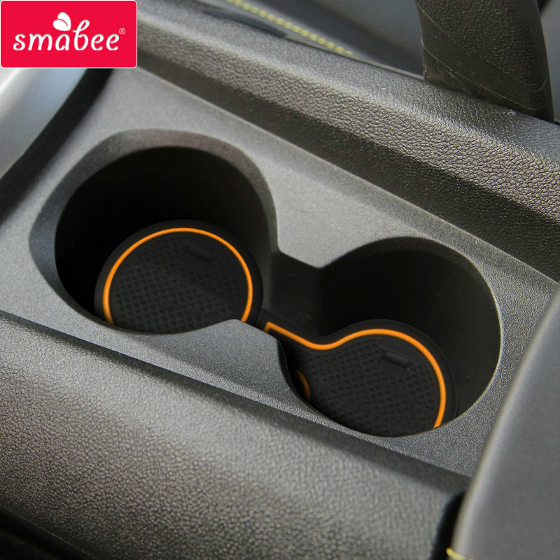 Smabee Anti-Slip Gate Slot Cup Mat For Chevrolet Camaro 2012 2013 2014 2015 2016  Accessories Rubber Cup Holders Non-slip Mats