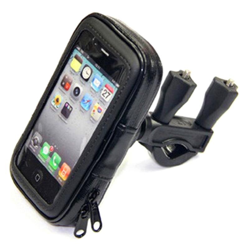 Spor ve Eğlence'ten Bisiklet Çantaları ve Sepetleri'de Bisiklet Su Geçirmez Cep telefon tutucu Bisiklet Cep Telefonu Çantası Su Geçirmez Kenar Braketi Cep Telefonu saklama çantası Çift Kullanımlı Yapmak title=