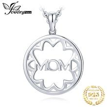 JewelryPalace 925 стерлингового серебра филигрань цветок полый круглый кулон Письмо маме День матери любовь не включают в себя цепочка