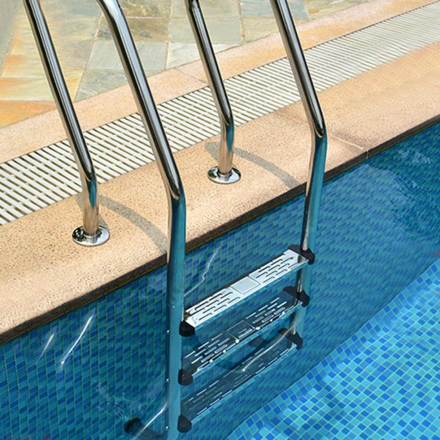 1pc Swimming Pool Handy Stainless Steel Ladder Rung Steps Deck Pedal Replacement for Swimming Pool SPA Pool Concrete Step