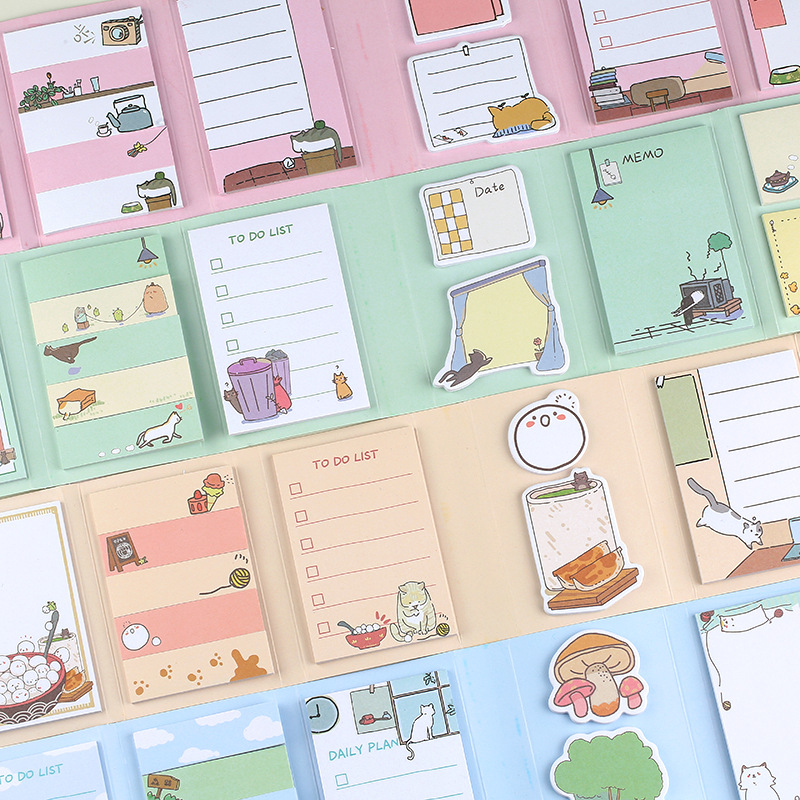 Normal Holiday Half Sugar Tea 6 Folding Memo Pad To Do List Weekly Planner Sticky Notes School Supply Bookmark Label