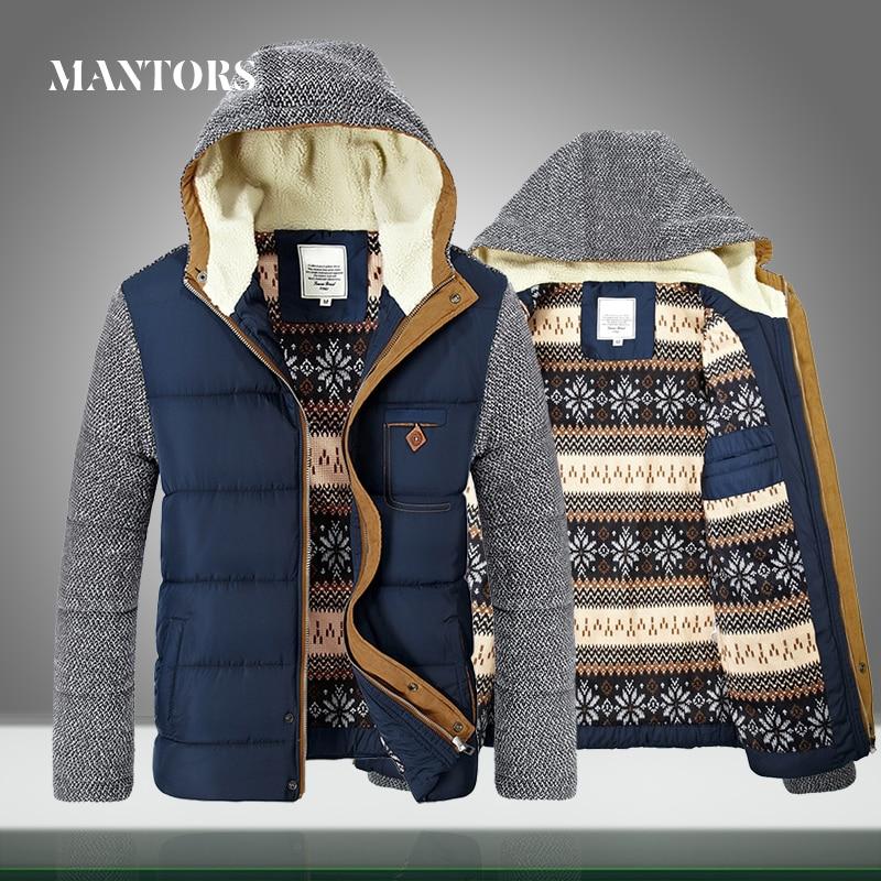 Winter Coat Parkas Bomber-Jackets Brand-Clothing Warm Thick Mens Hooded Fleece Male Velvet