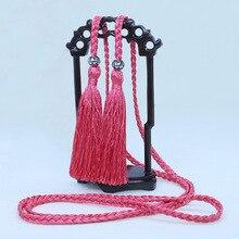 10 см, двойные плетеные полиэфирные кисточки с подвесным канатом, швейные кисточки, декоративные кисточки для штор, украшения дома