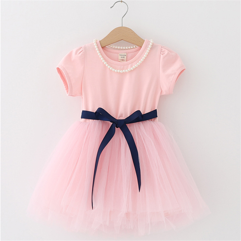 Summer Kids Dresses For Girls short Sleeve Children Clothing Tutu Girls Casual School Wear Princess Party Dress 2020 New 25 6