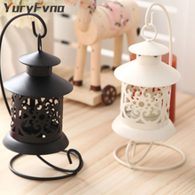 YuryFvna Metal Tealight Candle Holder Candlestick Vintage Hanging Tea Light Candle Lantern Home Bar Shop Wedding Decoration Gift