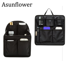 Asunflower Travel Digital Storage Bag Accessories Inner Bag Organizer Capacity Multi-pocket Backpack Handbag Insert Organizer waterproof lining insert pocket handles for classic for obag canvas inner pocket for o bag silicon bag handbag accessories