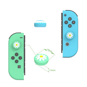 Image 4 - Animal Crossing Cat Paw Bear Leaf Flower Thumb Stick Grip Cap Joystick Cover For Nintend Switch NS Lite Joy con Controller Case