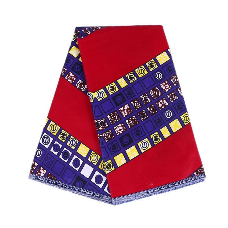 2019 Newest Fashion African Red Print Wax Fabric Ankara Veritable Guarantee Real Wax